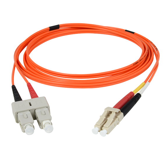 Multimode OM1 LC/Sc Fiber Optic Cable with Clips