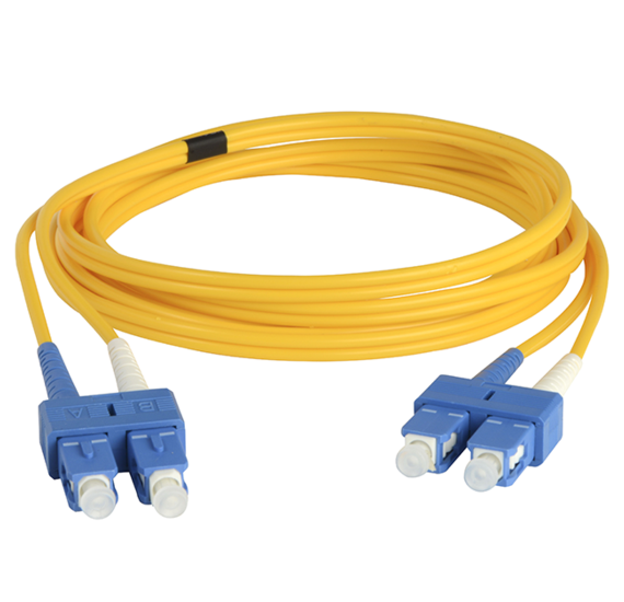 Singlemode SC/SC Fiber Optic Cable with Clips