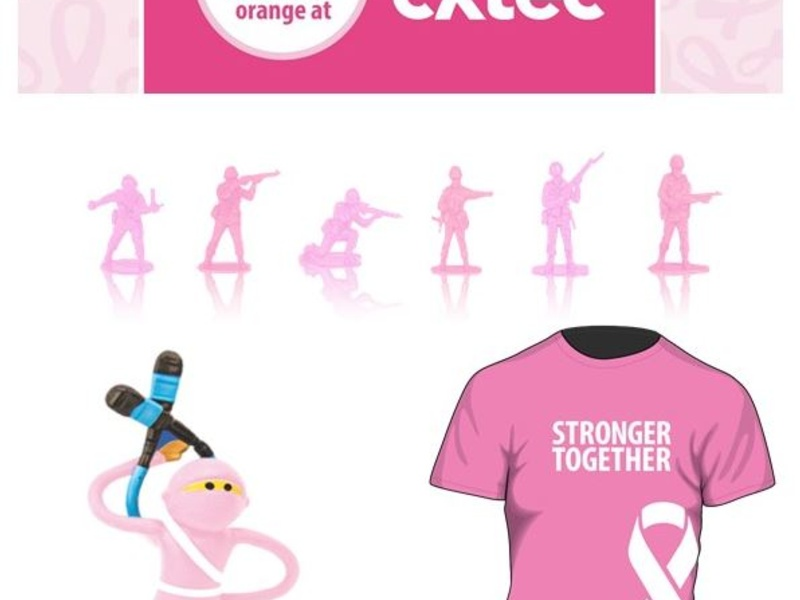CXtec pink troops and CABLExpress pink cable ninjas team up for Breast Cancer Awareness Month